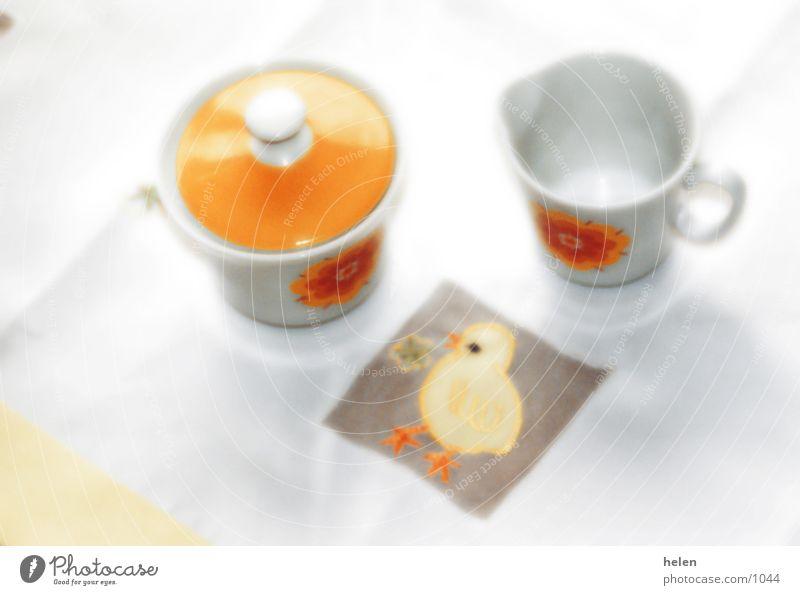 Table Retro Crockery Milk Sugar Jug Chick To have a coffee Sugar bowl