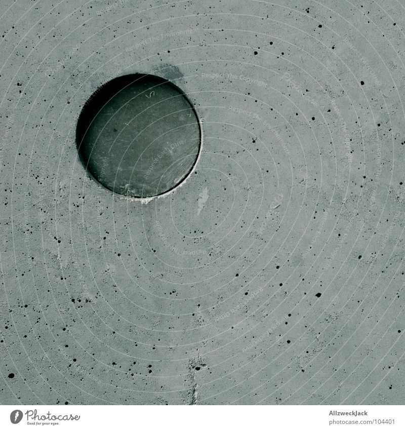 Beautiful Cold Wall (building) Gray Concrete Circle Modern Round Simple Square Geometry Smoothness Left Perfect Sharp-edged Minimalistic