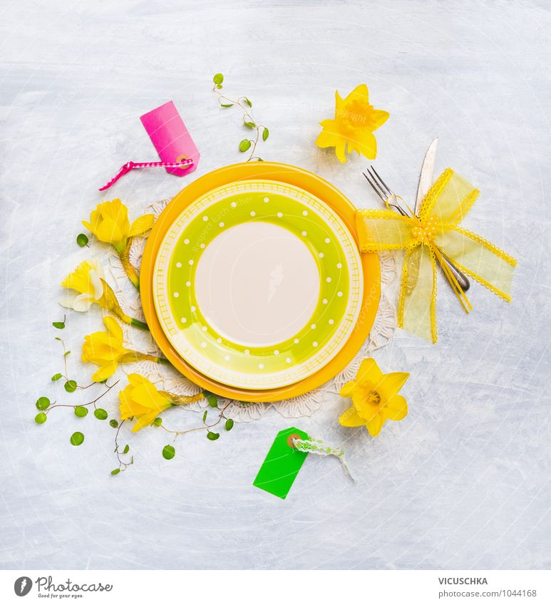 Summer Flower Yellow Spring Interior design Style Background picture Lifestyle Feasts & Celebrations Design Decoration Table Easter Kitchen Restaurant Tradition