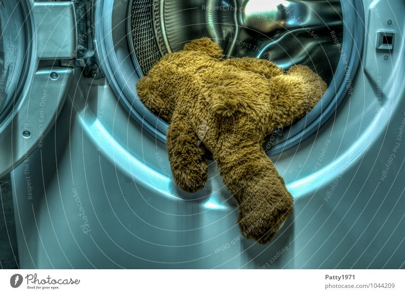 Sadness Climbing Hang Distress Washing Cuddly Suicide Teddy bear Washer HDR Cuddly toy Get in Washer drum