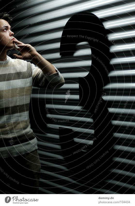 Human being Man Hand Loneliness Black Dark Wall (building) Freedom Think Metal Mouth Walking Nose Large Search Stripe