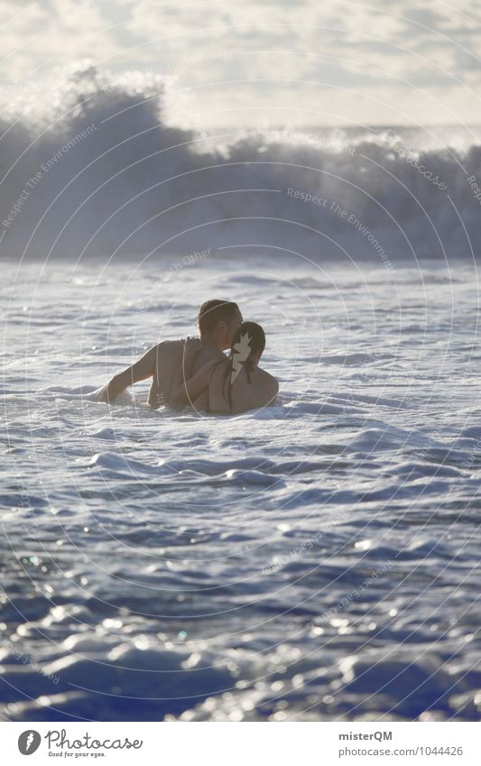 In conjunction. Nature Adventure Romp Playing Effortless In pairs Couple Relationship Trust Together Attachment Related Cohesive Man Woman Swimming & Bathing