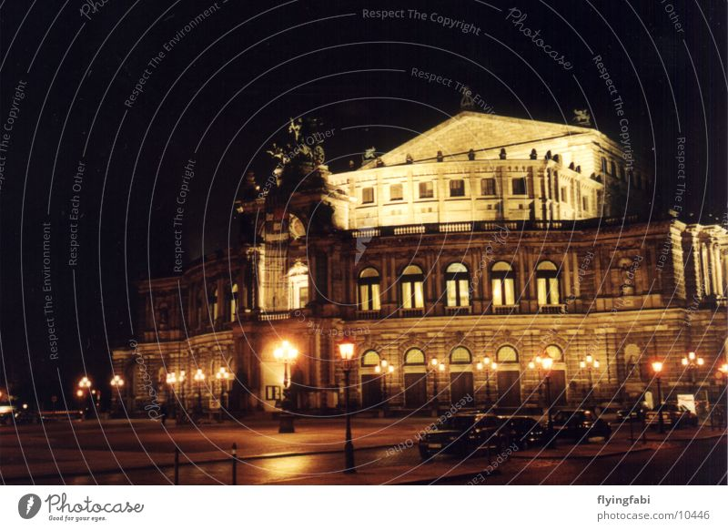 Semperoper @ night Semper Opera Dresden Culture Concert Music Old town oldtown
