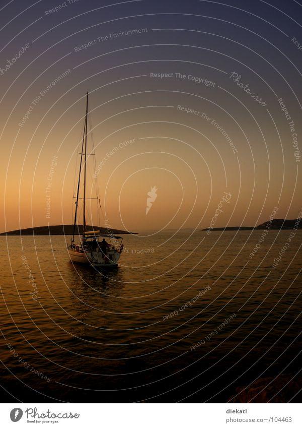 Sky Ocean Summer Loneliness Calm Watercraft Hot Bay Sailing Sailboat