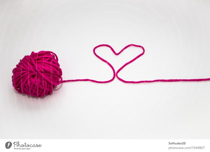 love Wool Heart Heart-shaped Valentine's Day With love Moody Love Infatuation Romance Colour photo Copy Space top Copy Space bottom