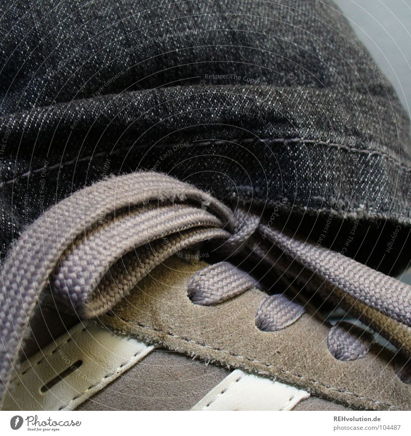 favorite Footwear Sneakers Dark Bow Shoelace Black Gray Stripe White Bond Attract Stitching Buckskin Cloth Stand Clothing Playing Jeans laced Feet cheese feet
