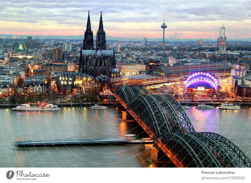 View of Cologne Architecture Environment Water Sky Horizon Federal eagle North Rhine-Westphalia Europe Town Downtown Skyline House (Residential Structure)