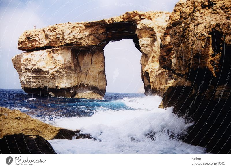 remembrance Gozo Cliff window azure