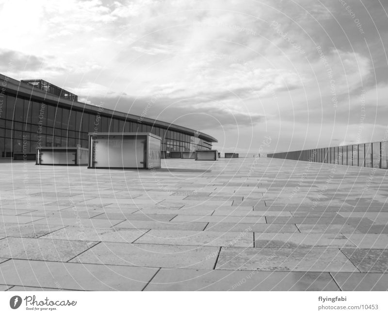 White Black Style Architecture Modern Dresden Trade fair