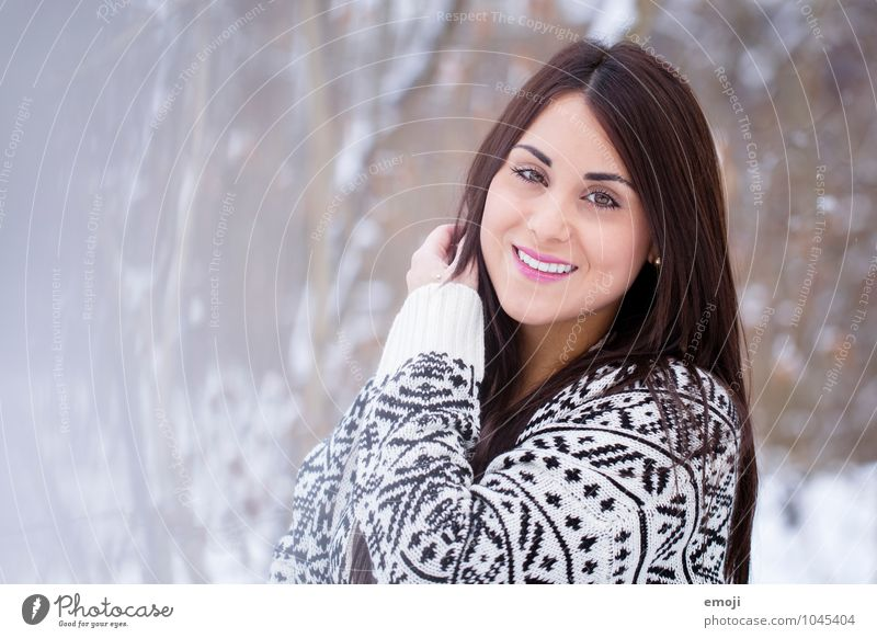 (: Feminine Young woman Youth (Young adults) 1 Human being 18 - 30 years Adults Winter Happy Beautiful Cold Smiling Colour photo Exterior shot Day