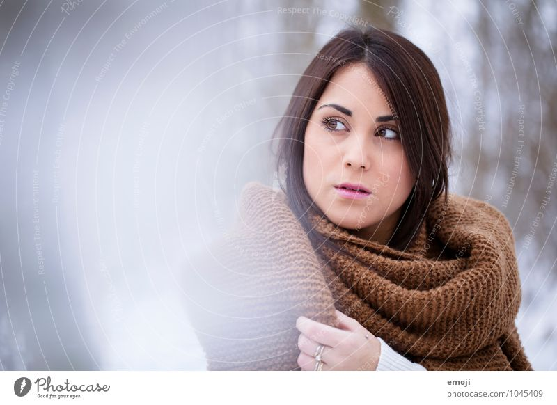 Human being Youth (Young adults) Beautiful Young woman 18 - 30 years Winter Cold Adults Face Feminine Uniqueness