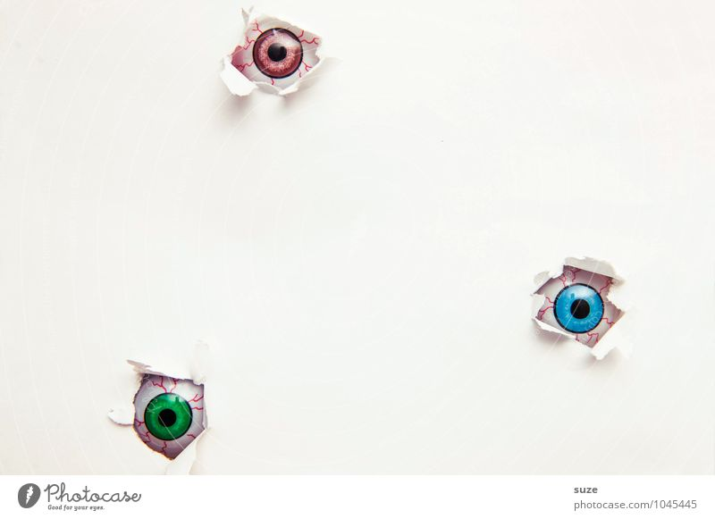Naked White Eyes Funny Small Bright Leisure and hobbies Design Decoration Creativity Observe Simple Idea Paper Cool (slang) Curiosity