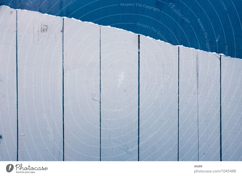 Blue Colour White Cold Wall (building) Wall (barrier) Wood Background picture Line Facade Gloomy Authentic Simple Stripe Paper Broken