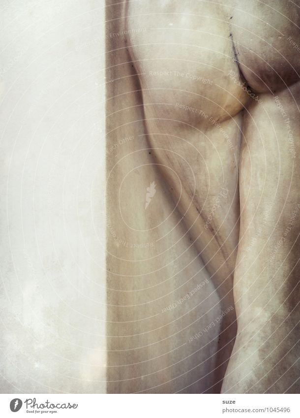 bottom pose Beautiful Body Healthy Alternative medicine Bottom Art Work of art Sculpture Culture Stone Esthetic Elegant Naked Natural Virtuous Eroticism