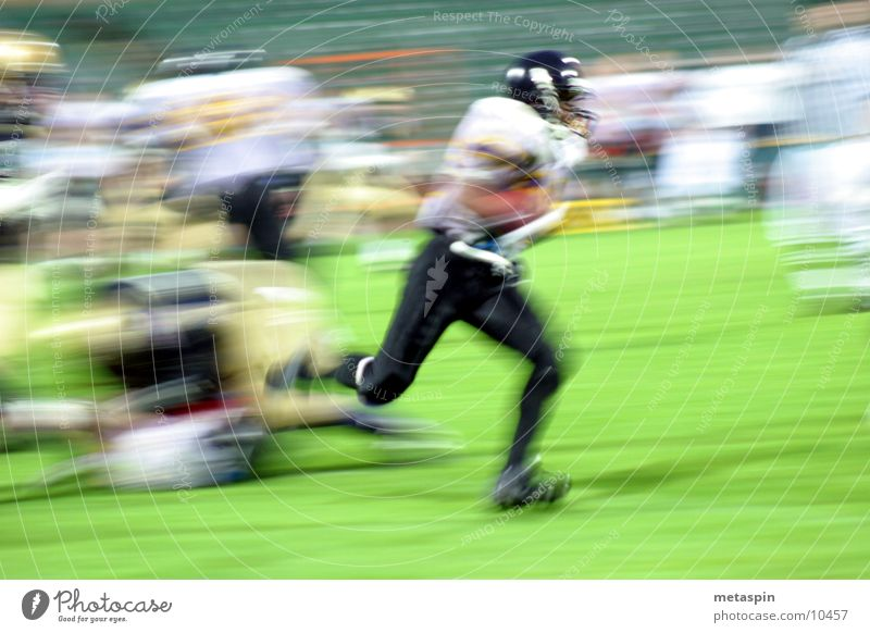 Fast Footballer American Football Speed Blur Ball sports Sports football Sportsperson Walking