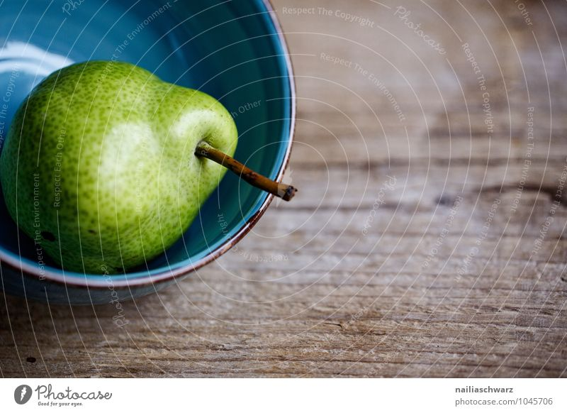 pear Food Fruit Pear Nutrition Organic produce Vegetarian diet Diet Fasting Bowl Healthy Life Wood Glass Simple Natural Juicy Sour Beautiful Sweet Blue Green