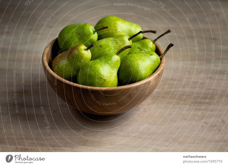 pears Food Fruit Pear Nutrition Organic produce Vegetarian diet Diet Bowl Wooden bowl Fragrance Fresh Healthy Delicious Natural Juicy Beautiful Sweet Brown