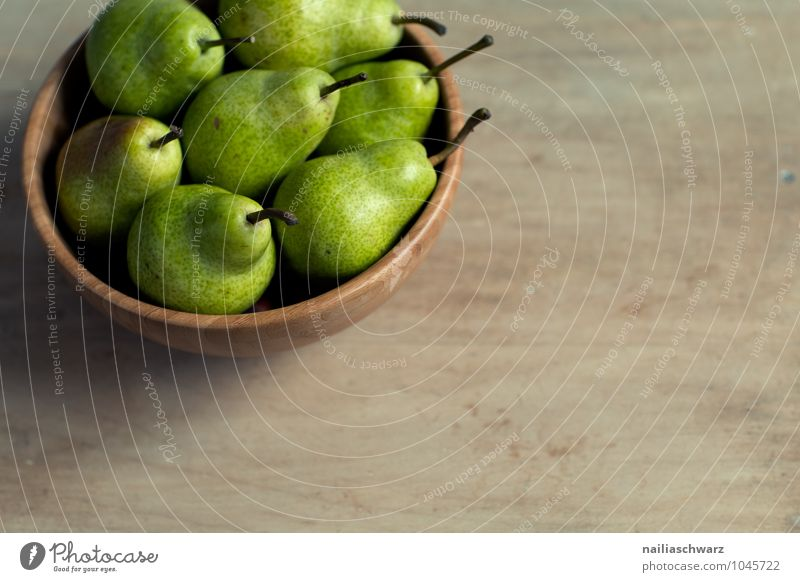 Fresh pears Food Fruit Pear Nutrition Organic produce Vegetarian diet Bowl Fragrance Healthy Natural Juicy Sour Beautiful Sweet Brown Green Together Disciplined