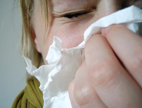 sneezing Illness Sneezing Cough Handkerchief Girl Woman Sniff Dust Allergy Cold Winter Summer Seasons Supercooled Common cold Infection Air Breathe