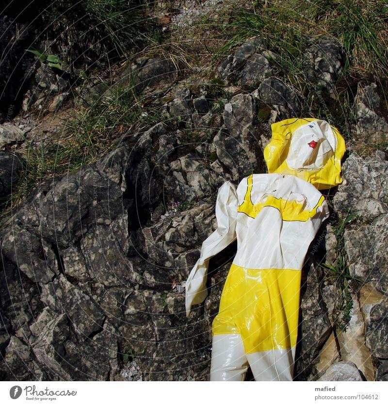 Summer Loneliness Yellow Gray Rock Empty Broken Transience Wrinkles Bavaria Hideous Water wings Brook Lifeless Mountain stream Useless