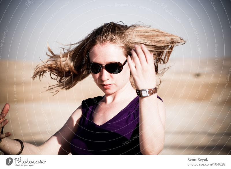 Summer Hair and hairstyles Sand Air Blonde Earth Desert Hot Dry Sunglasses Israel Eyeglasses Shake Negev