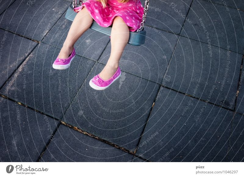 swing Playing Human being Feminine Child Toddler Girl Infancy Legs Feet 1 3 - 8 years Movement To swing Brash Gray Pink Black Joy Colour