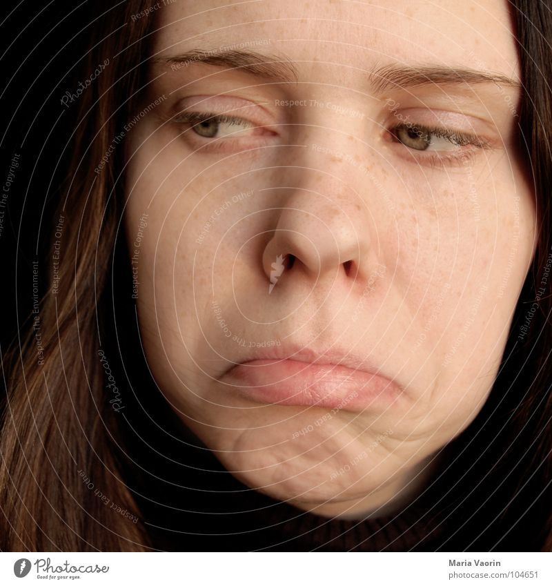 Woman Youth (Young adults) Eyes Sadness Mouth Grief Pain Distress Facial expression Tragic