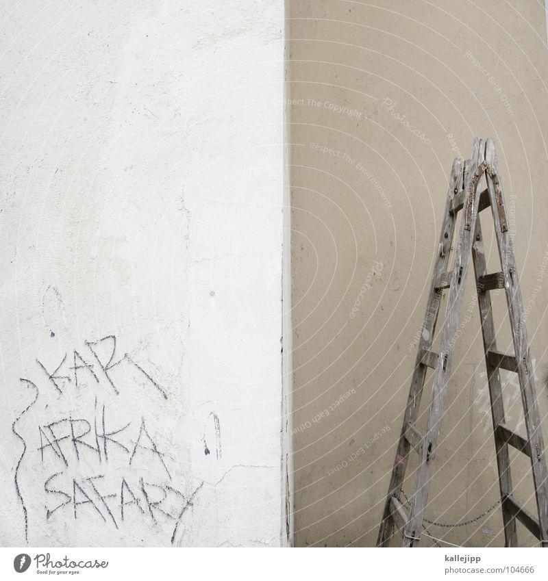 africa safary Career Wall (building) Construction site Daub Aggravation Tagger Half Safari Vandalism Bla Site Meteorologist Craft (trade) Ladder steps stairs