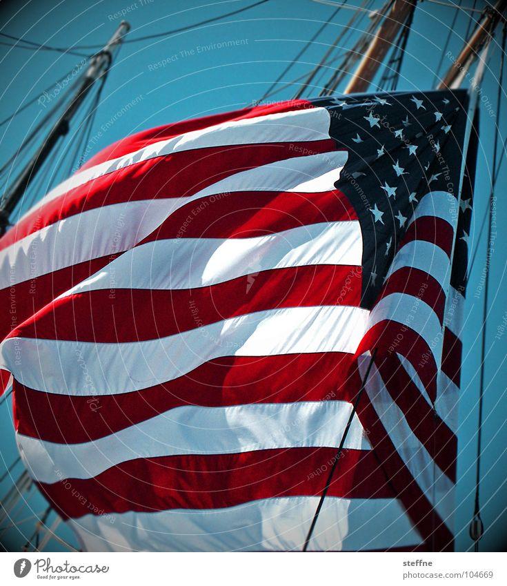 Water Sky White Ocean Blue Red Black Freedom Watercraft Wind Star (Symbol) Might USA Flag Stripe Americas