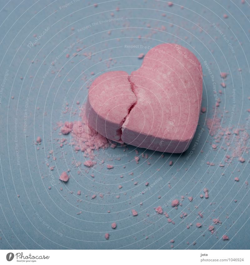 in two Valentine's Day Heart Love Broken Sweet Trashy Pink Hope Pain Longing Disappointment Loneliness Distress Jealousy Betray Force Divide Transience Lose