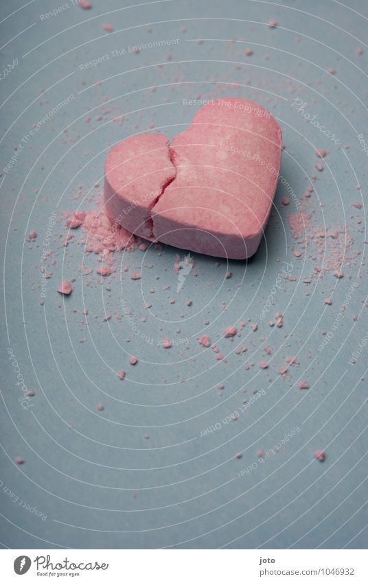 smashed Valentine's Day Heart Broken Trashy Pink Sadness Lovesickness Pain Longing Disappointment Loneliness Distress Jealousy Betray Force Hope Love affair