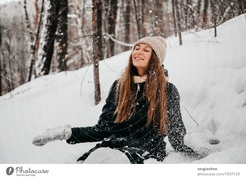 winter happiness 2 Beautiful Wellness Life Well-being Senses Calm Meditation Young woman Youth (Young adults) Woman Adults 1 Human being 18 - 30 years Breathe