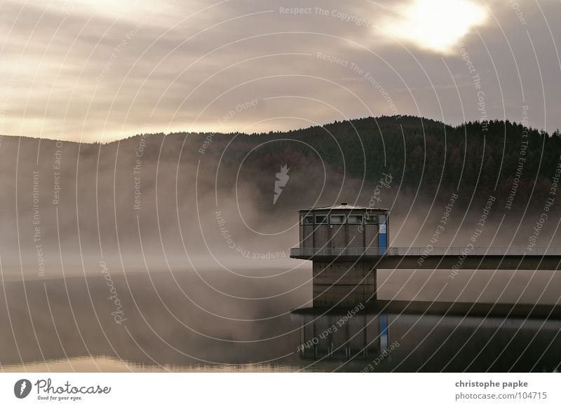Nature Water Tree Calm Clouds Loneliness Forest Autumn Mountain Lake Landscape Fog Wet Concrete Fresh Bridge