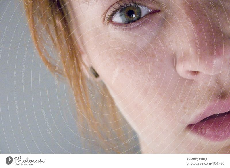 view...to infinity Woman Portrait photograph Dream Search Pink Boredom Face Eyes Looking Mouth Nose Head Human being