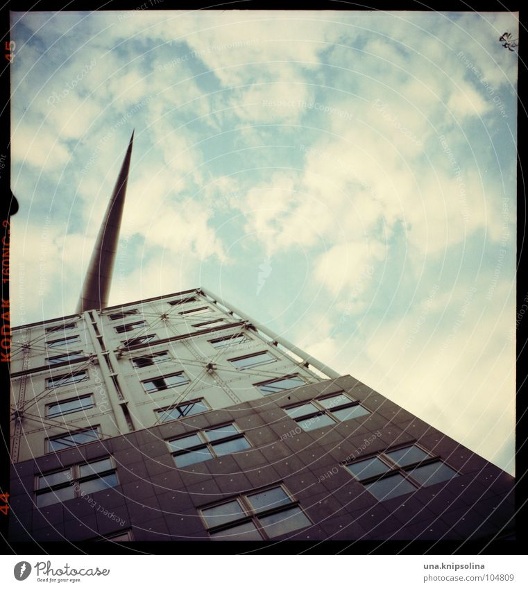 Clouds Window Berlin Above Architecture Building Art Facade Design Point Arrow Square Rectangle Dart