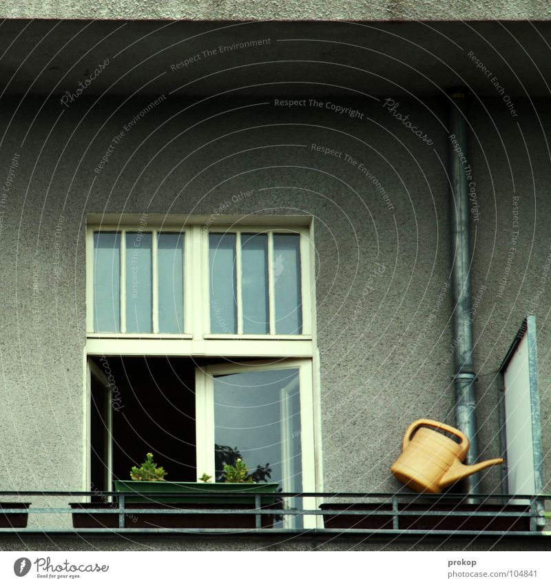 Flower House (Residential Structure) Window Contentment Flat (apartment) Arrangement Simple Clean Living or residing Pipe Balcony Iron-pipe Boredom Handrail Few Insulation