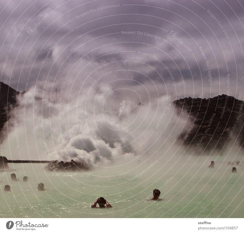 Blue Water White Green Joy Clouds Black Relaxation Mountain Warmth Swimming & Bathing Europe Physics Violet Smoke Stress