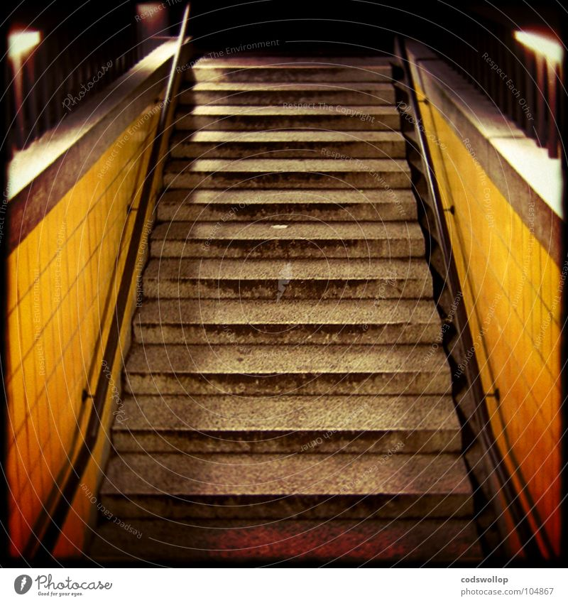 going underground London Underground Station Night Entrance Way out In transit Vacation & Travel Open Means of transport Detail Public service Stairs steps