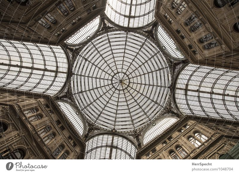 Galleria Umberto I Naples Italy Manmade structures Building Architecture Roof Tourist Attraction Landmark Glass Steel Old Esthetic Exceptional Large Historic