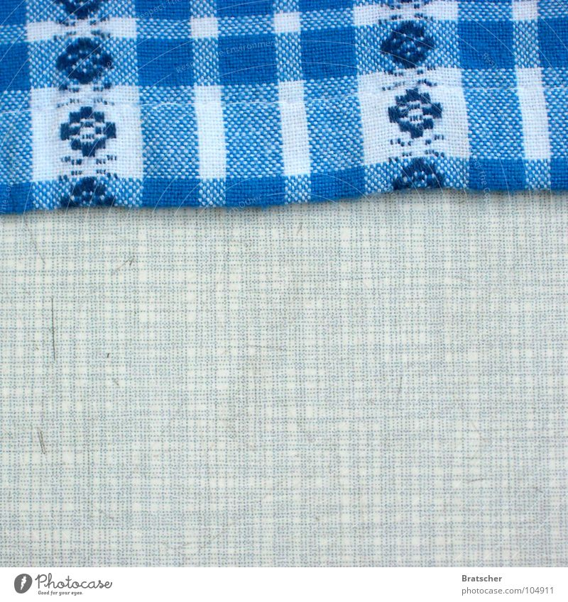 Eaten up. Table Tabletop Cloth Pattern Bavaria Attic Kitchen Gastronomy resopal sprelacart Vintage Old Noble Blue attic find knitted fabric