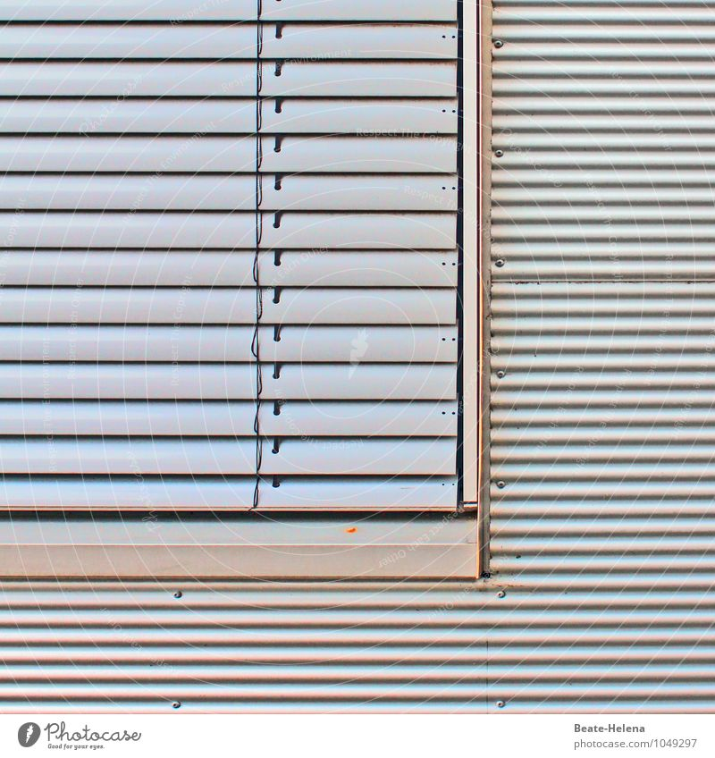 Vacation & Travel Relaxation Dark Leisure and hobbies Office Wait Closed To enjoy Sleep Protection Safety Silver Workplace Closing time Aluminium Venetian blinds