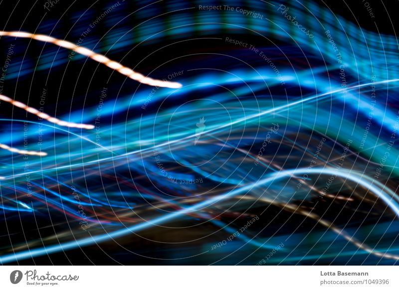 at night Waves Night life Advancement Future Movement Glittering Illuminate Esthetic Modern Town Blue Black Longing Colour Speed Innovative Mobility Change Time