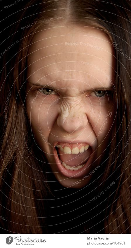 Woman Easy Power Dangerous Anger Scream Force Continuous Evil Freak Aggravation Aggression Hatred Frustration Attack