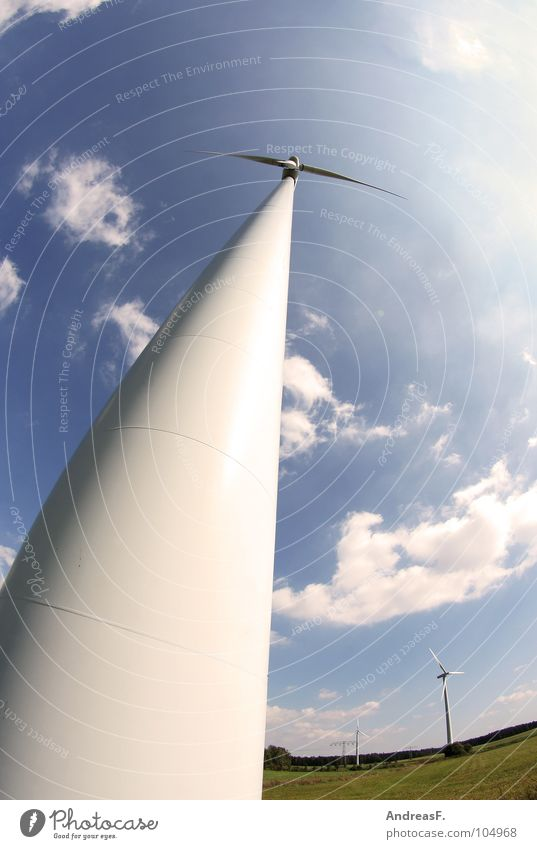 wind power Wind energy plant Electricity generating station Ecological Climate protection Renewable energy Alternative Engines Green Environment Eco-friendly