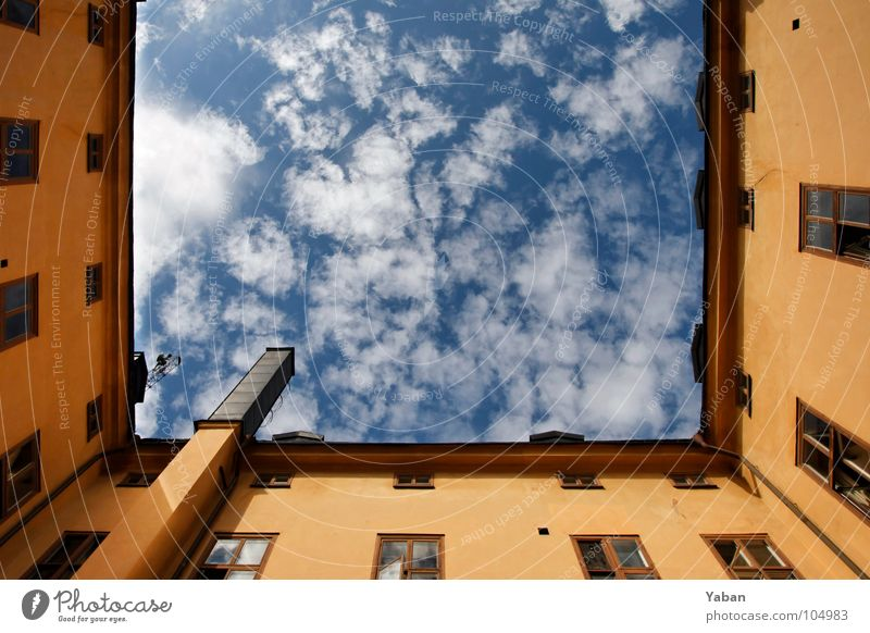 Sky over Stockholm Colour photo Exterior shot Wide angle City trip Summer House (Residential Structure) Clouds Beautiful weather Architecture Wall (barrier)