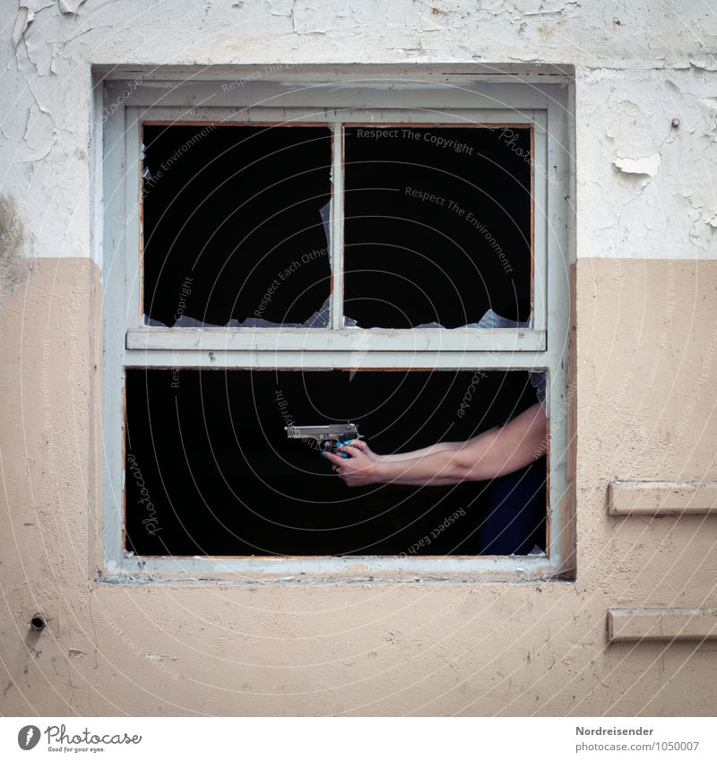 Human being Hand House (Residential Structure) Dark Window Wall (building) Feminine Building Wall (barrier) Fear Room Arm Dangerous Threat Fear of death Manmade structures