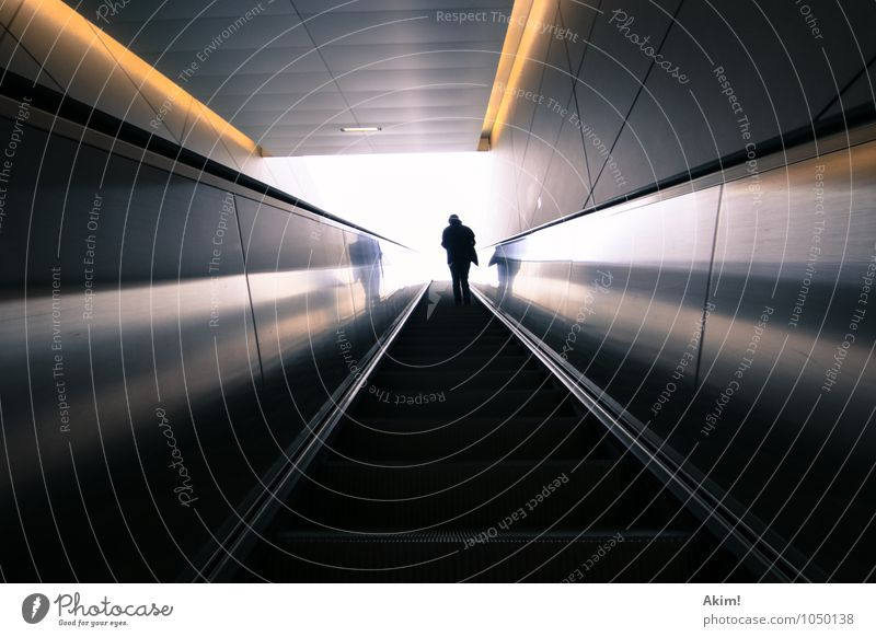 High up I 1 Human being Future Escape Uncertain future Escalator Public transit Point of departure Go up Promotion Groundbreaking Heaven Pearly Gates Death