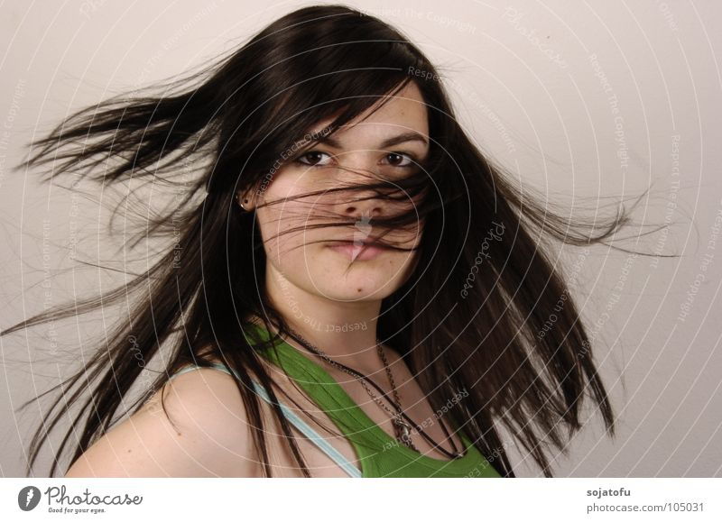 swing in the hair Swing Rotation Woman Hair and hairstyles Movement Looking Eyes Snapshot