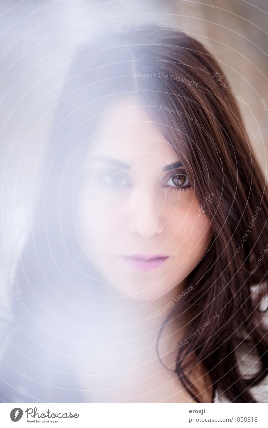 un-sharp Feminine Young woman Youth (Young adults) Head Face 1 Human being 18 - 30 years Adults Beautiful Vail Colour photo Exterior shot Close-up Day Blur