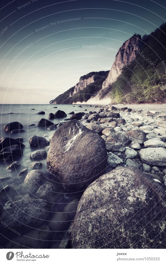 inspiration Vacation & Travel Island Nature Landscape Sky Horizon Beautiful weather Rock Coast Beach Baltic Sea Rügen Large Tall Round Blue Brown Gray Green